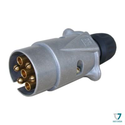 Zástrčka 7pin (DIN), kovová, IP44, Erich Jaeger