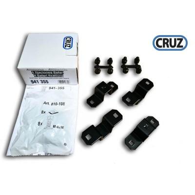 Sada 4 fixačních adaptérů pro koše Cruz Safari na ALU tyče
