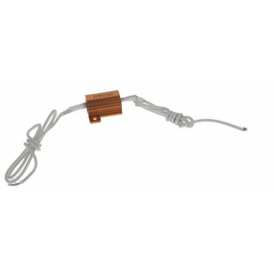Rezistor pro žárovku 12V/10W, 25 ohm, hliníkové pouzdro