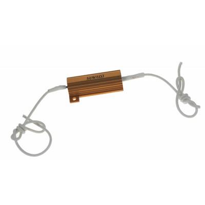 Rezistor pro žárovku 12V/21W, 6 ohm , hliníkové pouzdro