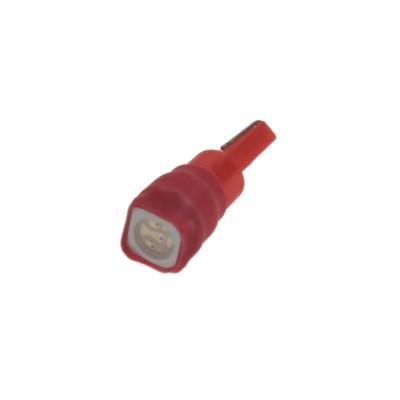 LED žárovka 12V s paticí T5 červená, 1LED/3SMD