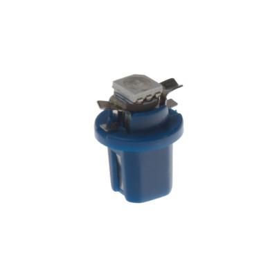 Mini LED B8,5 žárovka do palubní desky modrá/3SMD