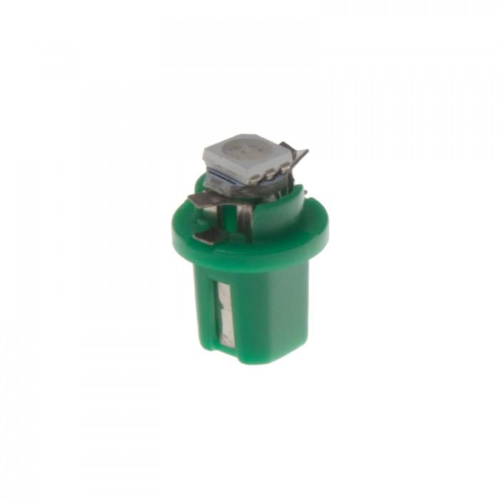 Mini LED B8,5 žárovka do palubní desky zelená/3SMD