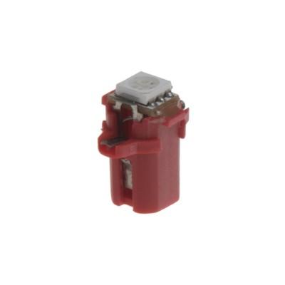 Mini LED B8,3 žárovka do palubní desky červená/3SMD