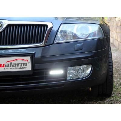 Světla s LED pro Škoda Octavia 2004-08, automatické denní svícení, homologace