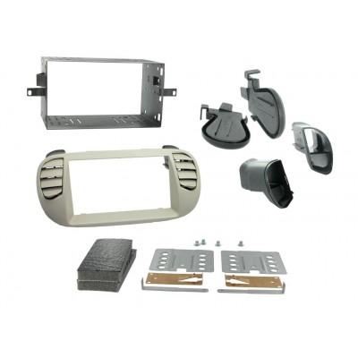2DIN redukce pro Fiat 500 06/2007- perleťově šedá