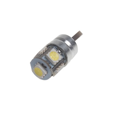 LED žárovka 12V s paticí T10, 5LED/3SMD