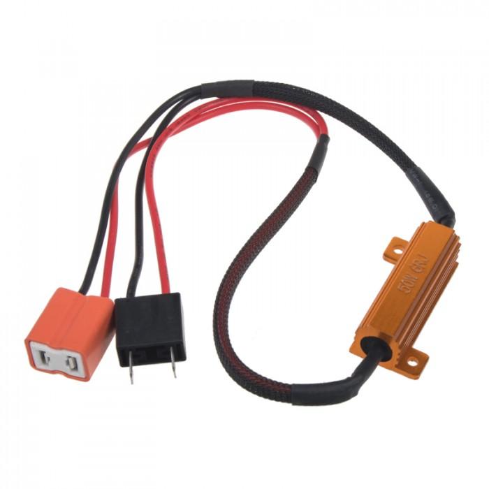 Rezistor pro žárovku H7 12V/21W, 6 ohm , hliníkové pouzdro
