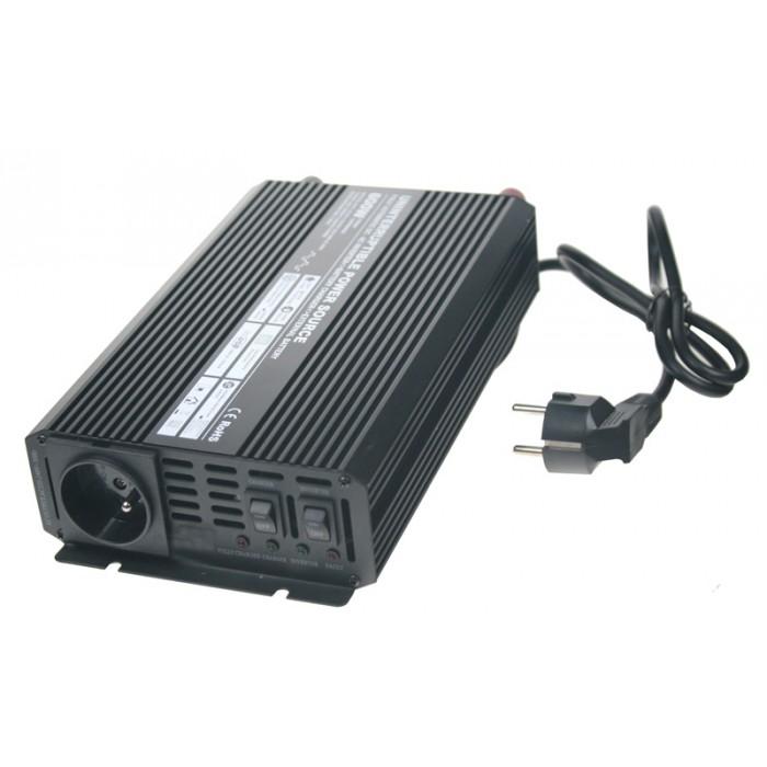 Autonabíječka 12V/2A + měnič 600W 12/220V, UPS