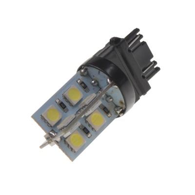 LED žárovka 12V s paticí T20 (3157) bílá, 16LED/3SMD