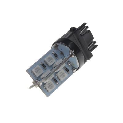 LED žárovka 12V s paticí T20 (3157) oranžová, 16LED/3SMD