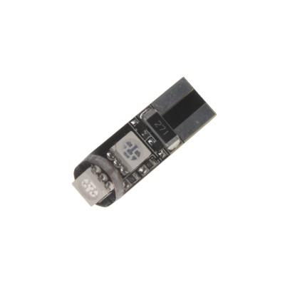 LED žárovka 12V T10 červená, 3LED/3SMD