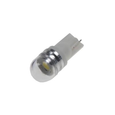 LED žárovka 12V T10 bílá, 1LED/3SMD s čočkou