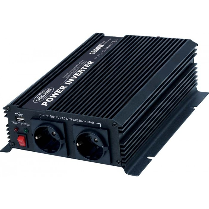 Měnič napětí z 12/230V + USB, 1600W