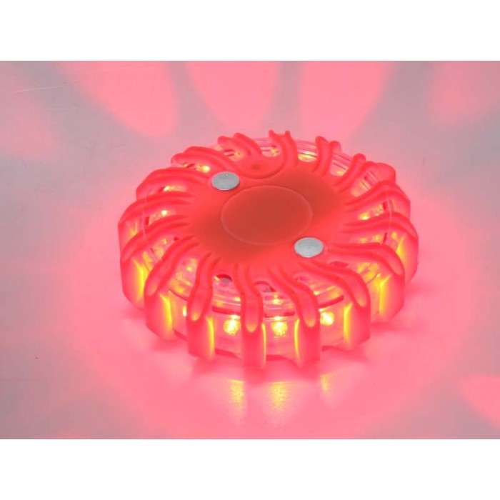LED výstražné světlo 16LED, červené