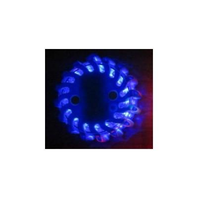 LED výstražné světlo 16LED, modré, set 6ks