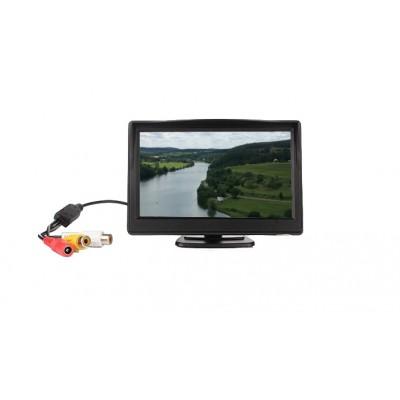 """LCD monitor 5"""" černý na palubní desku"""