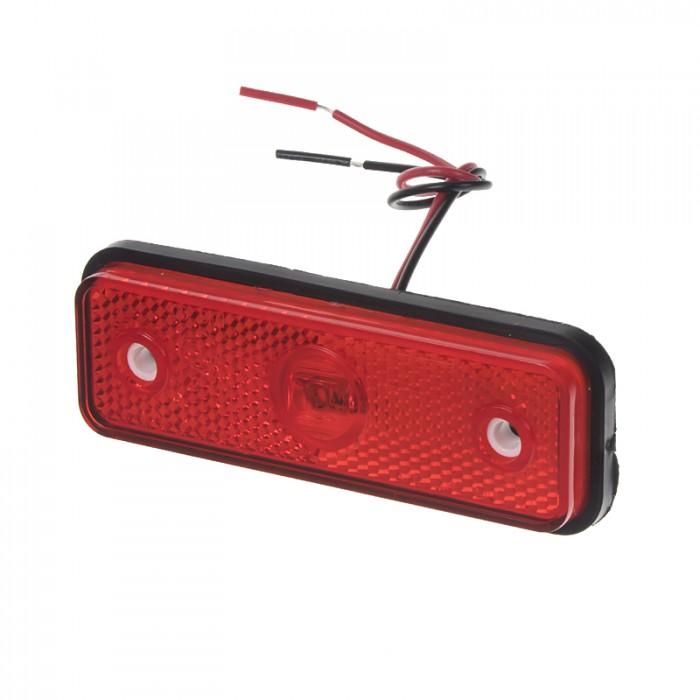 Zadní obrysové světlo LED, červený obdélník, homologace