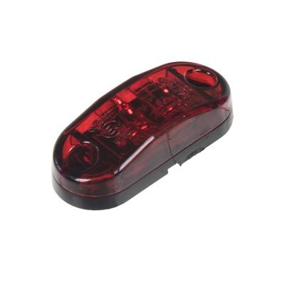 Zadní obrysové světlo LED, červený ovál, homologace