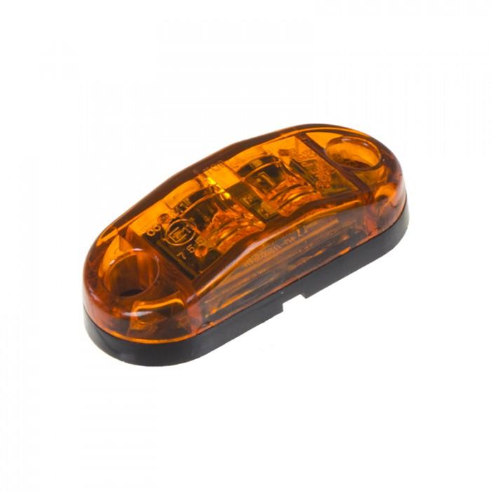 Boční obrysové světlo LED, oranžový ovál, homologace