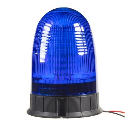 Zábleskový LED maják, 12-24V, modrý, homologace