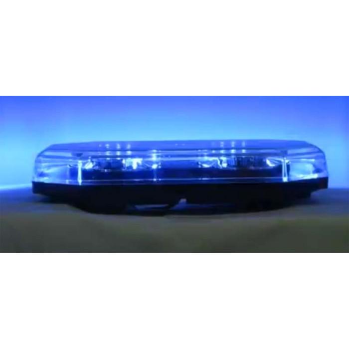 LED světelná rampa, modrá, magnet, 12-24V, homologace