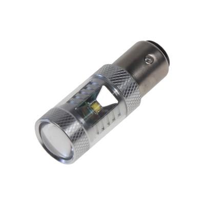 CREE LED BAY15D 12-24V, 30W (6x5W) bílá