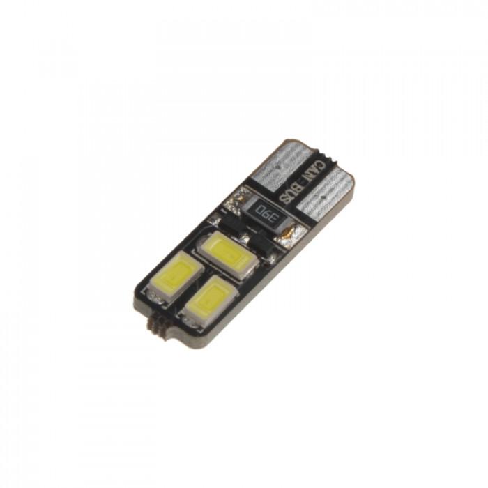 LED žárovka 12V s paticí T10, bílá 6LED/5730SMD