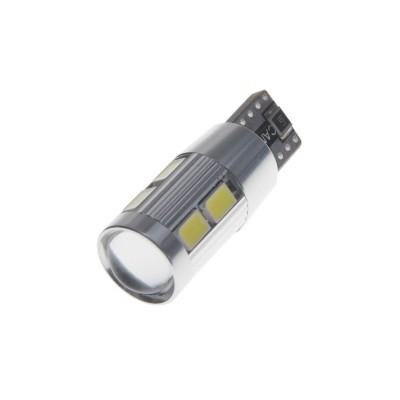 CREE LED 5W bílá + 8LED/5630SMD, T10 (W3W, W5W) 12V