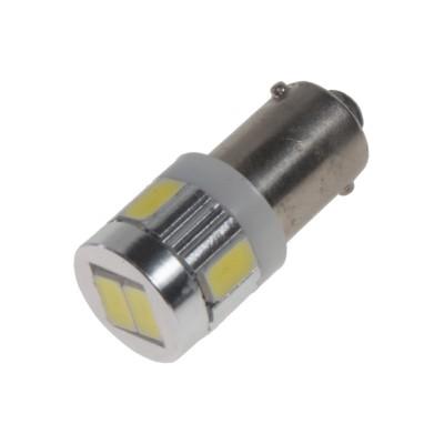 LED žárovka 9-32V s paticí BA 9s bílá, 6LED/5630SMD