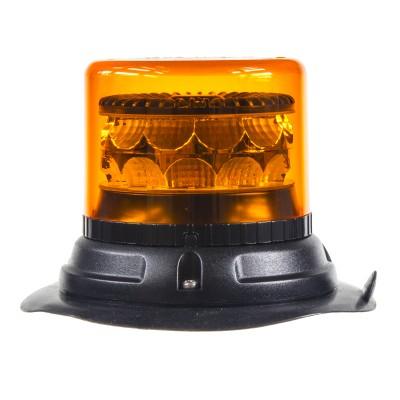 PROFI LED maják 12-24V 24x3W oranžový magnet ECE R65 133x86mm