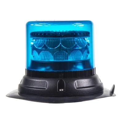 PROFI LED maják 12-24V 24x3W modrý magnet ECE R65 133x86mm