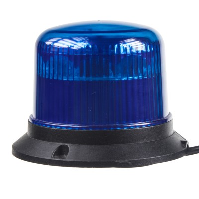 PROFI LED maják 12-24V 10x3W modrý magnet ECE R65 121x90mm
