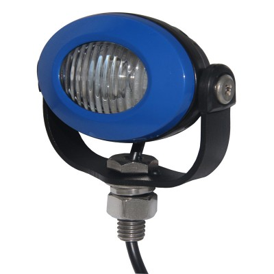 PROFI LED výstražné světlo 12-24V 3x3W modrý ECE R65 92x65mm