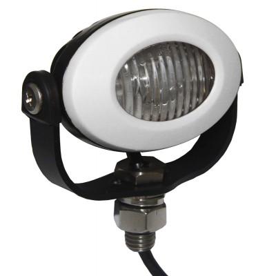 PROFI LED výstražné světlo 12-24V 3x3W bílý ECE R65 92x65mm