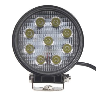 LED světlo na pracovní stroje kulaté 10-30V, 9x3W
