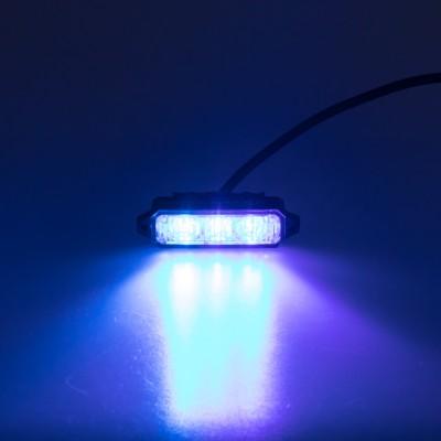 MINI PREDATOR 3x1W LED, 12-24V, modrý