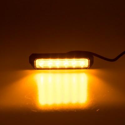 PREDATOR 6x3W LED, 12-24V, oranžový, ECE R10 R65