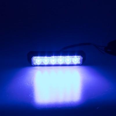 PREDATOR 6x3W LED, 12-24V, modrý, ECE R10 R65