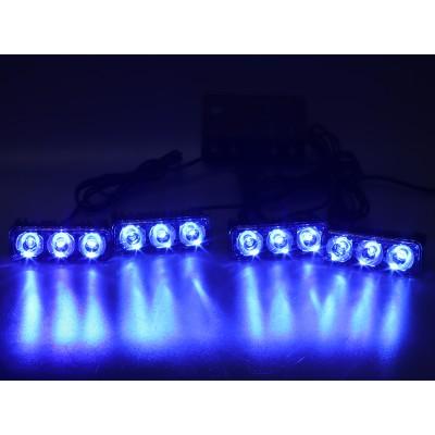 PREDATOR LED vnější bezdrátový, 12x LED 1W, 12V, modrý