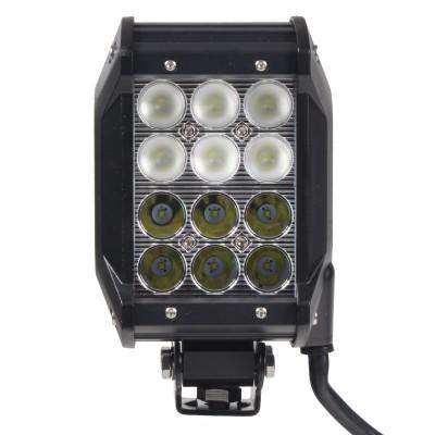 LED 12x3W prac.světlo,dva úhly vyzařování 8/60°, 9-32V, 99x93x168mm