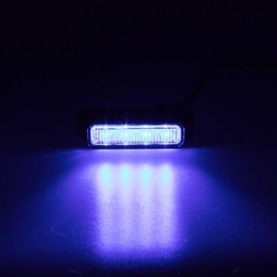 PREDATOR 4x3W LED, 12-24V, modrý, ECE R10 R65