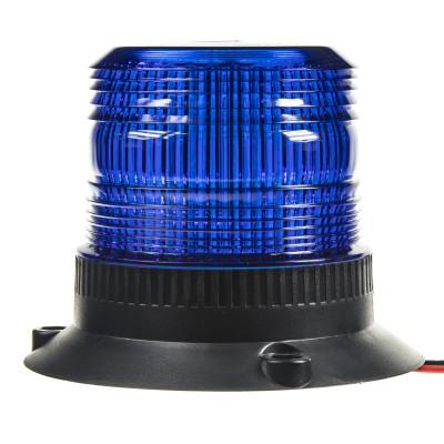 Zábleskový maják, 12-110V, modrý, ECE R10