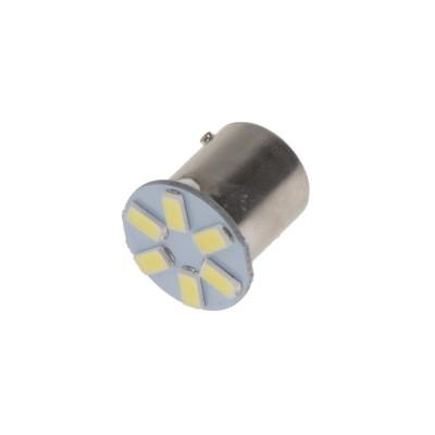 LED BAU15s bílá, 12V, 6LED/5630SMD