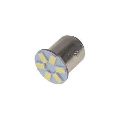 LED BAY15d (dvouvlákno) bílá, 12V, 6LED/5630SMD