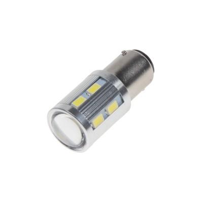LED BA15D bílá, 12SMD 5630 + 3W Osram 10-30V