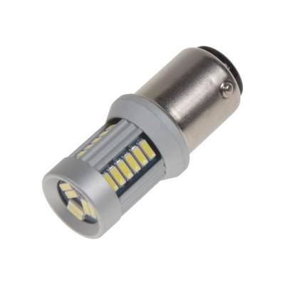 LED BAY15d (dvouvlákno) bílá, 12-24V, 30LED/4014SMD