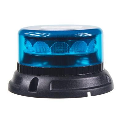 PROFI LED maják 12-24V 12x3W modrý ECE R65 133x76mm
