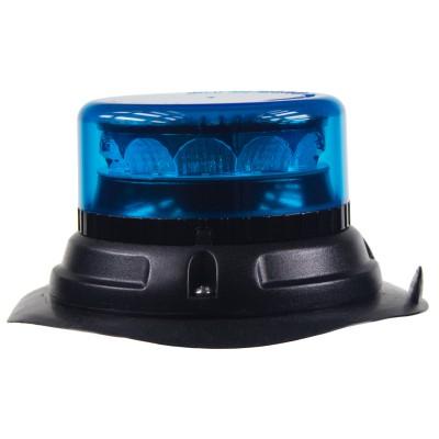 PROFI LED maják 12-24V 12x3W modrý magnet ECE R65 133x76mm