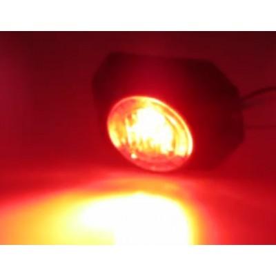 PROFI výstražné LED světlo vnější, 12-24V, červené, ECE R65